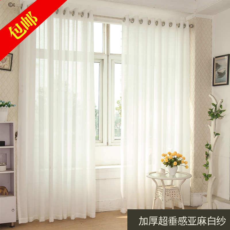 Hot sale high grade product white sheer curtains for living room
