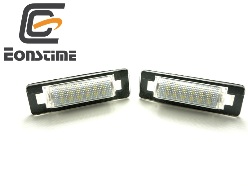 Eonstime 2pcs LED Number License Plate Lamps OBC Error Free 18 LED for Mercedes Benz W210 W202 E300 E55 C230 C43 AMG 2 x led number license plate lamps obc error free 24 led for bmw e39 e80 e82 e90 e91 e92 e60 e61 e70 e71
