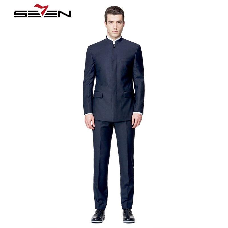 aliexpresscom buy seven7 dark blue men suit chinese