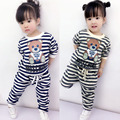 Girls Sports Suit Spring Children Baby Clothes Children Spring Cotton Two Pieces Girls Set