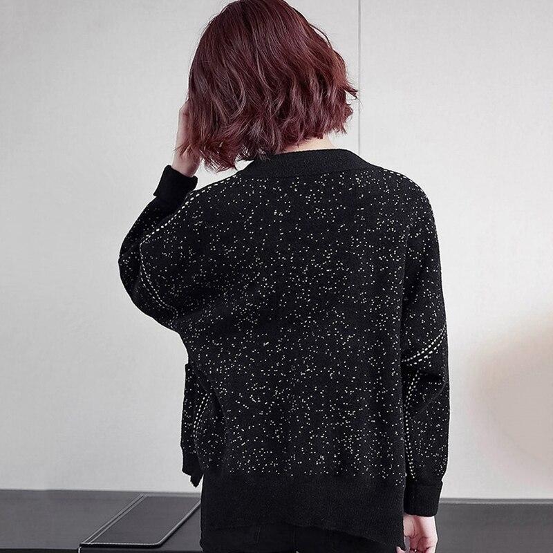 Femmes Survêtement Nouveau Fermeture Automne Éclair De Taille Grande Veste souris Manteau Manches Lâche 2019 Printemps Chauve Mode Black Femelle S354 xBwtIxq