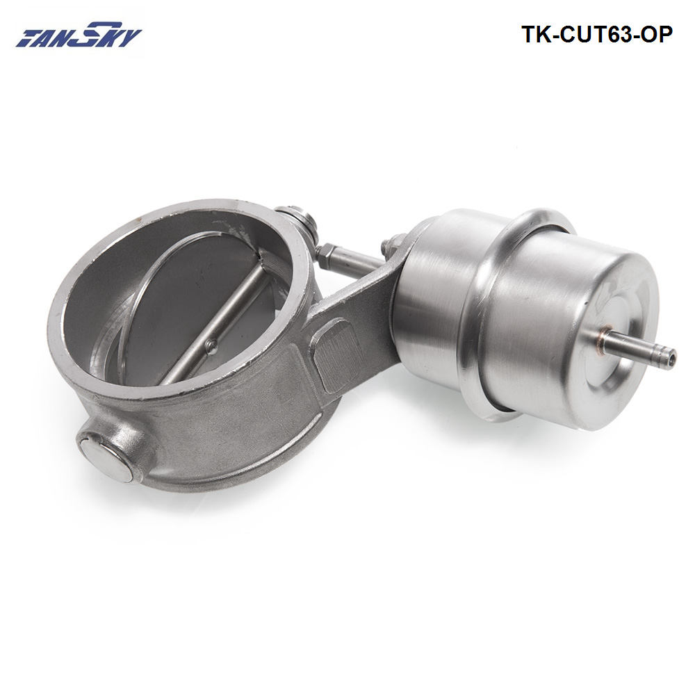 NEW Vacuum  Activated Exhaust Cutout / Dump 63MM Open Style Pressure: About 1 BAR For Ford Falcon BA BF XR6 TK-CUT63-OP