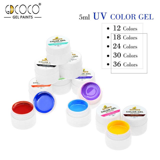 CANNI 36 Pure Color UV Gel Kit Paint Gel