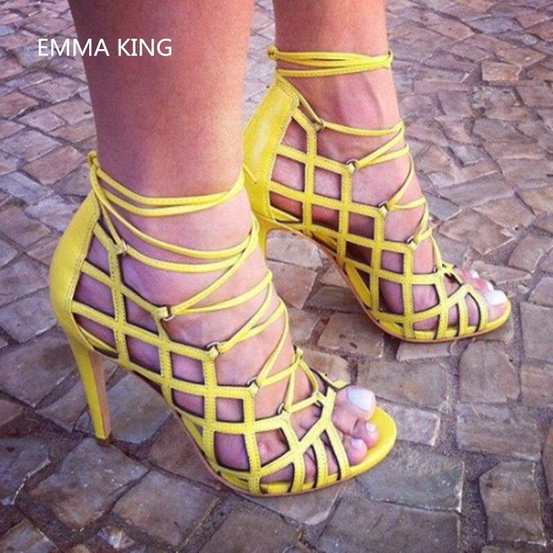 Mujer D'été Picture Roi Solide Mode Sexy Femmes Feminino Creux Sandalias Chaussures Sapatos Peep Emma De Sandales Partie Toe Stilettos As 4gPfPx6F
