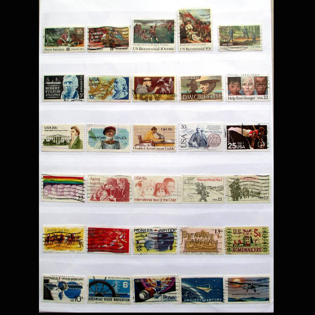 American USA 300 PCS All Different Used Postage Stamps Off Paper In Good Condition For Collecting All From US