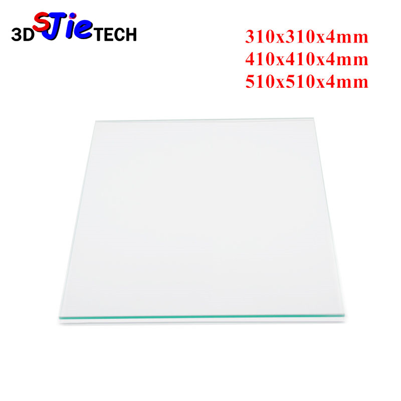 Heated Bed Borosilicate Glass Plate 310 410 510mm 4mm for Creality CR 10 Series CR 10