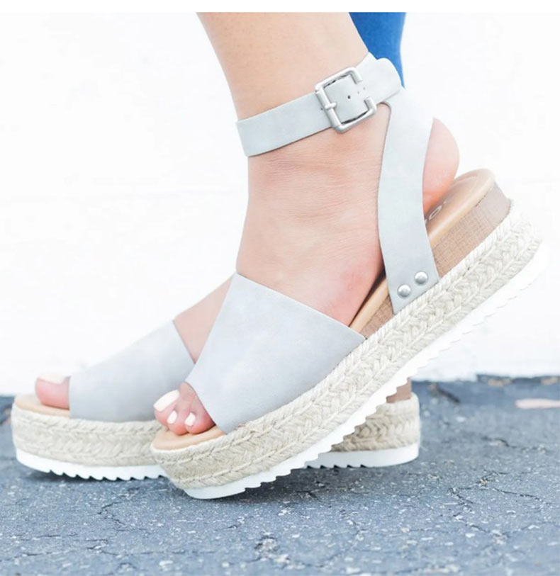 Women High Heels Sandals Summer Shoes Flip Flop Chaussures Femme Platform Sandals 35