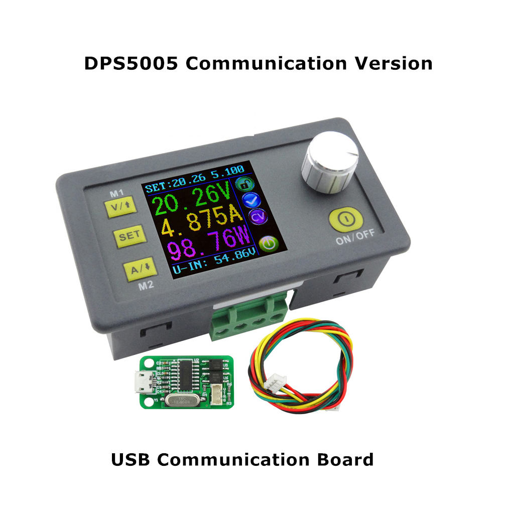 DPS5005 USB Communication 50V 5A Constant Voltage Current Step-down Power Supply Module Buck Voltage Converter Voltmeter 10pcs lot dps5005 communication function step down power supply module buck voltage converter constant current lcd voltmeter 40%