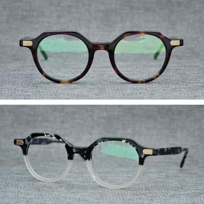 1df6da39fa2 LKK Hand-made retro polygonal circular plate glass frame plain myopic  glasses frame decoration frame