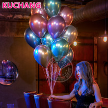 10pcs 12inch Chrome Metallic Metal Latex Gold Silver Pink Green Purple Blue Balloons Wedding Baby Shower Birthday Party Decor