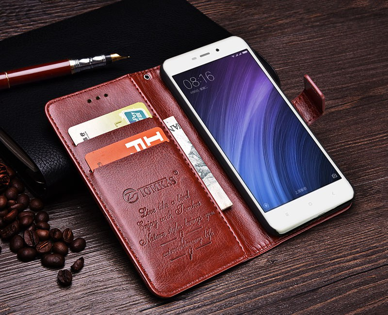 Business Case For Xiaomi Redmi 4A Cases Cover Flip Wallet Conque Case 5.0 Inch For Xiaomi Redmi 4A Cases Leather TOMKAS  (1)