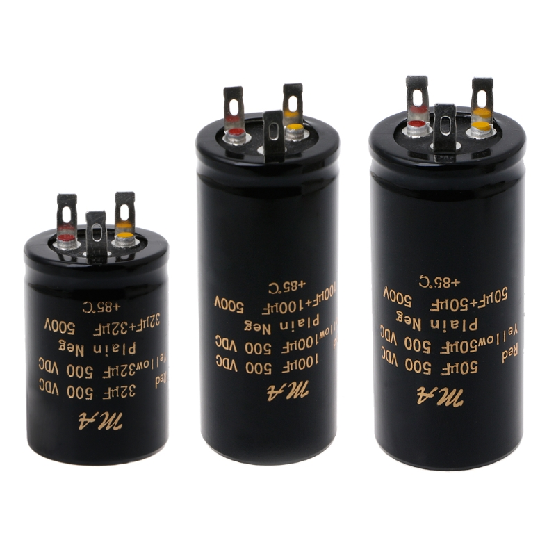<font><b>100</b></font>+100uf,50+50uf,32+32uf,500V Audio Electrolytic Double Amplifier <font><b>Capacitors</b></font> Dropship image