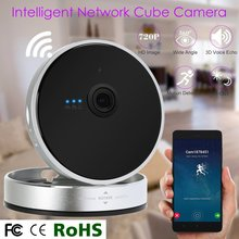 720 P Беспроводной Сети Ip-камера Smart Cam Cube Камеры Wi-Fi смартфон P2P Ночного Видения Ик Motion Обнаружения двусторонней аудио