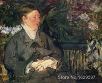 modern painting for dining room Madame Manet in conservatory Edouard Manet High quality Hand painted