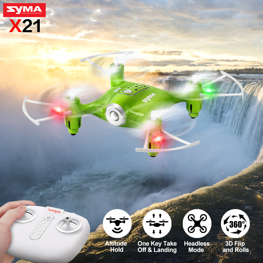 Syma X21 Mini Drone Remote Control Quadrocopter Helicopter RC 4CH 6-aixs Gyro Pocket Dron 3D Rolling Drone Toys For Children syma 107e remote control mini drone 3ch rc mini helicopter gyro crash resistant baby gift toys smallest helicopter kid air plane