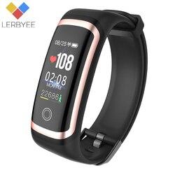Lerbyee M4 Фитнес трекер Водонепроницаемый IP67 крови Давление Smart Bluetooth браслет калорий Спорт браслет для iOS Android подарок