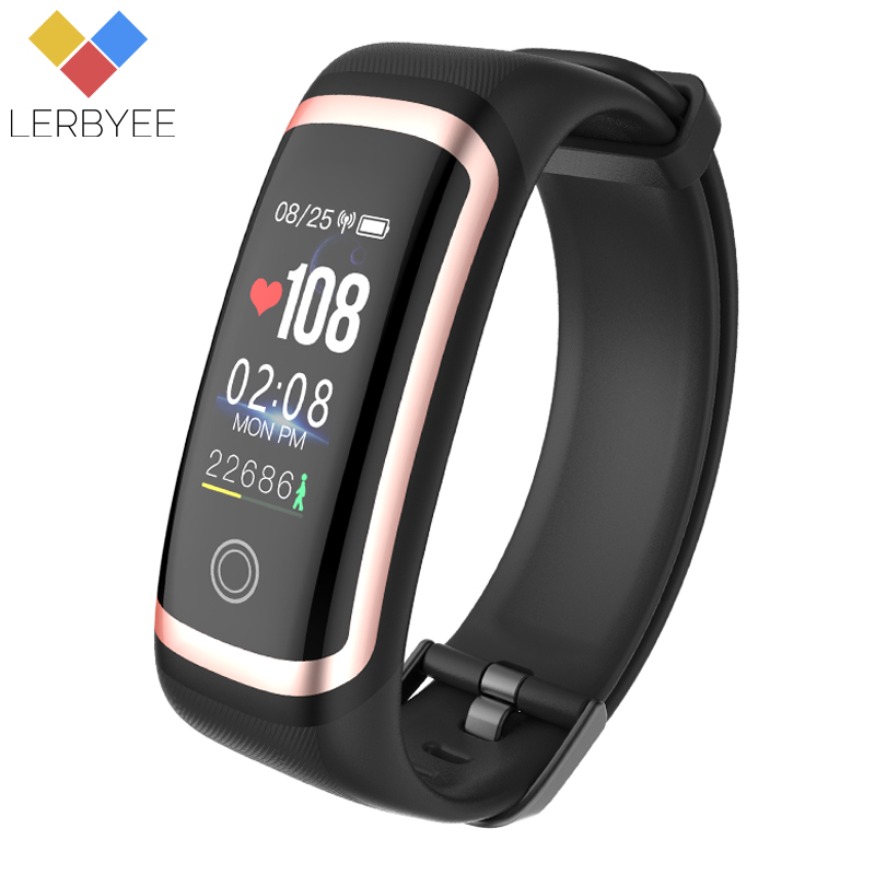 Lerbyee M4 Fitness Tracker Waterproof IP67 Blood Pressure Smart Bracelet Bluetooth Calories Sport Wristband for iOS Android Gift lerbyee fitness tracker m4 heart rate monitor waterproof smart bracelet bluetooth call reminder sport wristband for ios android