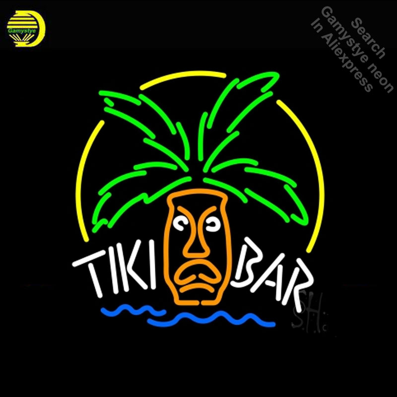 Enseigne au néon pour Tiki Bar Logo néon ampoule signe artisanat verre tube bière Bar Pub salle fenêtres livraison directe néon bar lumières maison