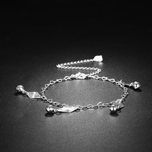 NEWBUY 2017 Summer Collection Fashion Women Anklets Jewelry Dropship Statement Silver-color Pendant Charm Foot Bracelet Female