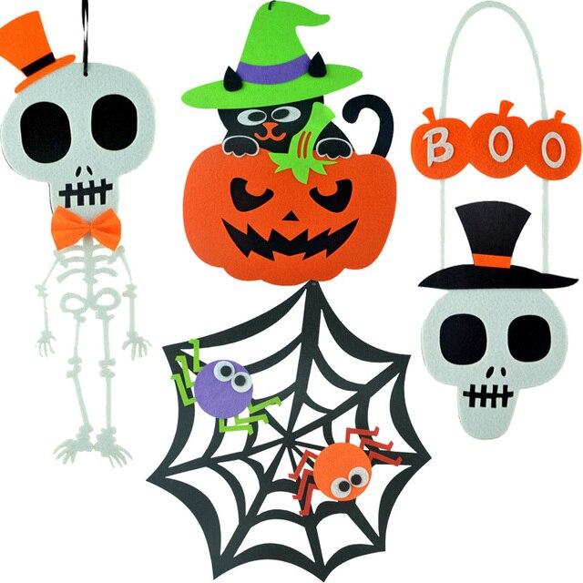 1Pcs Halloween Decoration Nonwoven Hanging Terror Spider/Pumpkin/Skull  Halloween Evening Party Supplies House