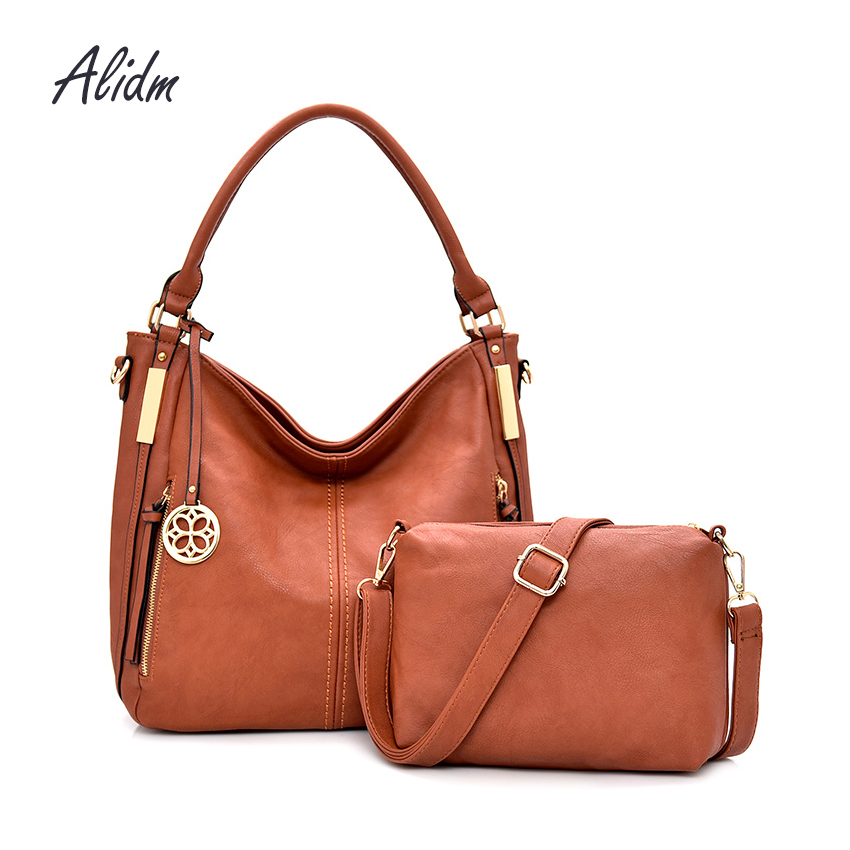 Fashion Women Bag PU Leather Composite Bag Women Handbag Set Large Capacity Shoulder Crossbody Bag Casual Tote bolsa feminina imido new fashion handbag pu leather bags women casual tote shoulder bag crossbody luxury brand bolsa feminina orange red hdg076