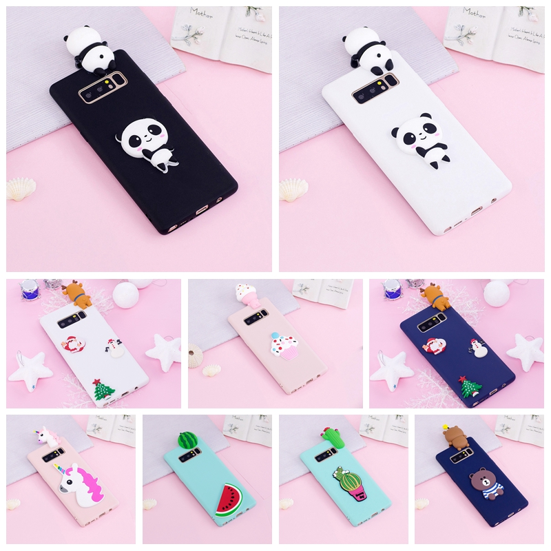 3D Case For Samsung Galaxy Note 8 Case Panda Unicorn Flamingo Phone Cases For Galaxy Note8 Coque For Samsung Note 8 Case Capinha(China)