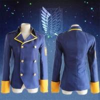 Japan Anime Attack On Titan Jacket Shingeki No Kyojin Levi Ackerman Eren Jaeger Cosplay Costume Coat