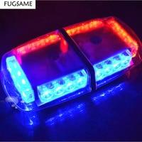 FUGSAME High Power 24 LED Car Auto Roof Flash Strobe Magnets Emergency EMS Warning Police Light Flashing Lights 24LED White