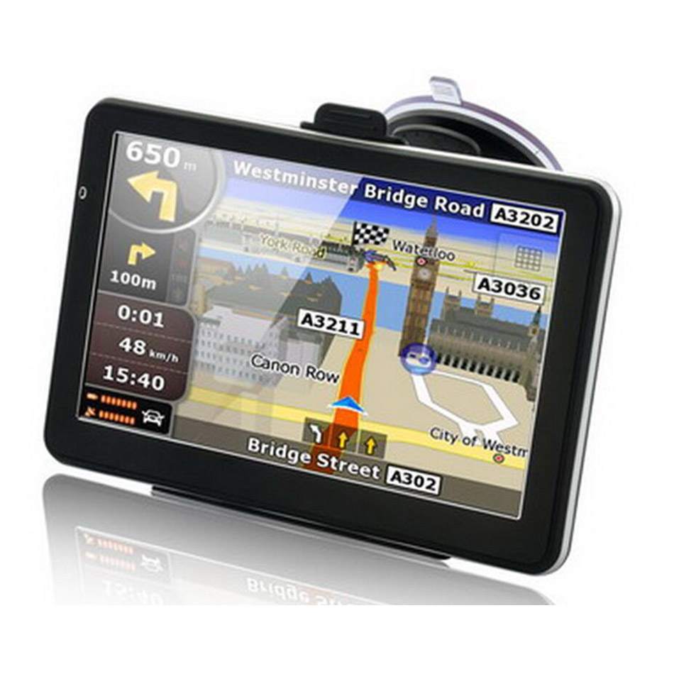 купить 7 inch Car GPS Navigation FM 128M 8GB Map navigator with Free Upgrade Europe Sat nav Truck gps navigators automobile по цене 3629.27 рублей