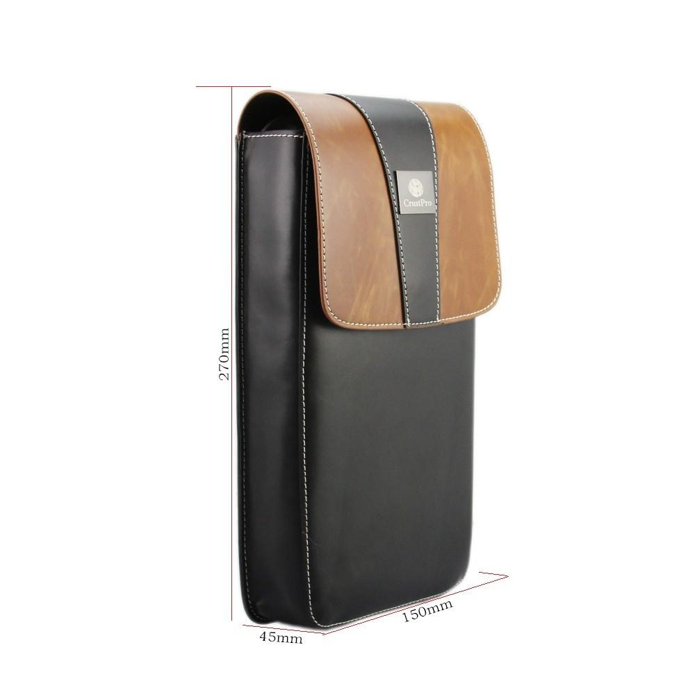Crust Pro Travel Protector Horse Leather Carry Storage Case Bag for B&O BeoPlay A2 Bluetooth Speaker Brown Box