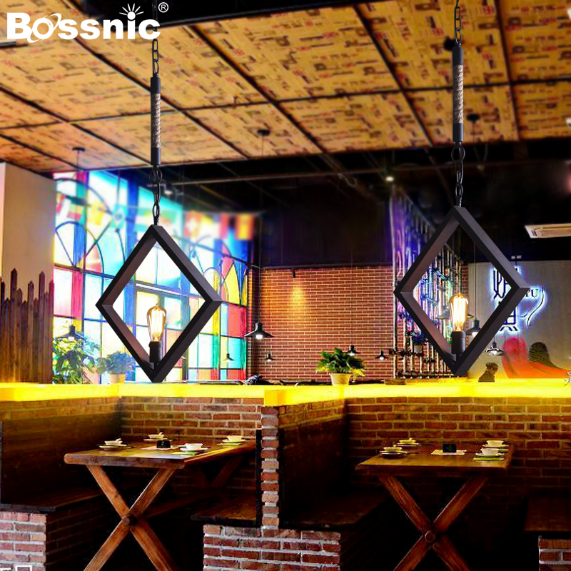 BossnicLighting Restoring ancient ways Wrought iron Pendant light Restaurant|Bedroom|Parlor|Hotel Lamp