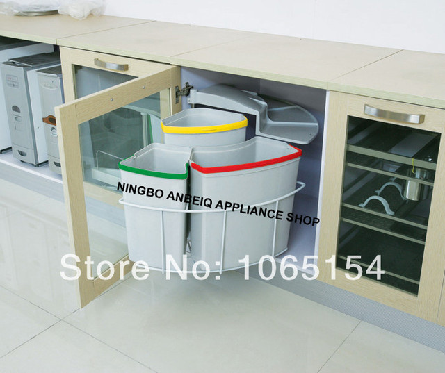 Factory Kitchen Cabinet Recycle Bin Kitchen Classified Trash Can Classic  Design Kitchen Dustbin Garbage Bin