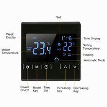 LCD dokunmatik ekranlı termostat elektrikli yerden ısıtma sistemi su ısıtma termoregülatör AC85 240V sıcaklık kontrol cihazı 110V 22