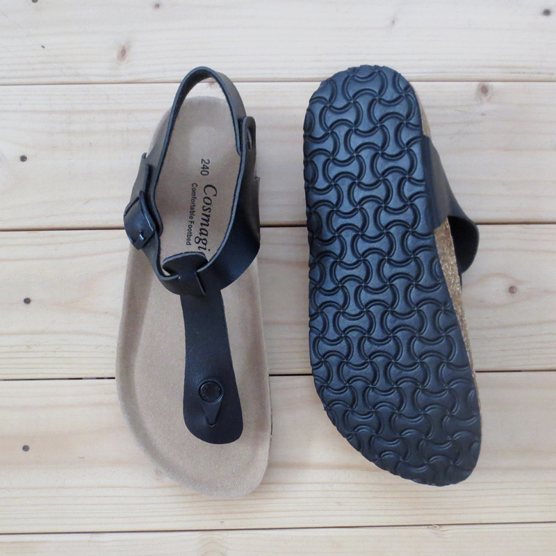 COLORS. REAL PHOTO SHOW. . COSMAGIC 2018 New Summer Beach Cork Sandals Flat  with Casual Women ... 90dcd12fb6c8