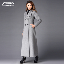 New Winter Coat Women Cashmere Long Coat 2017 Fashion Wool Coat Temperament Slim Double-breasted Large Sizes Trench Coat Female