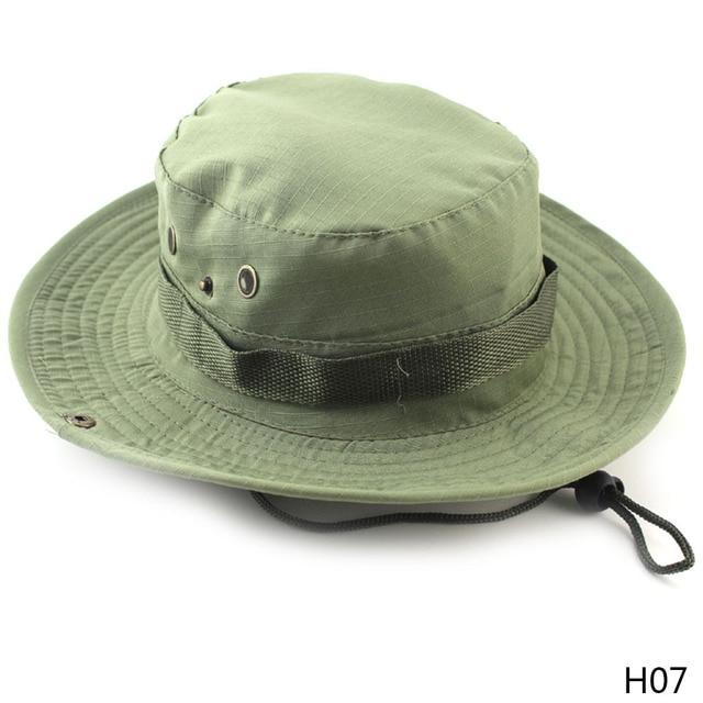 Venta caliente Casual Unisex al aire libre pescador sombrero escalada pesca  camuflaje conejito sombrero selva borde 4adbfdad3d5