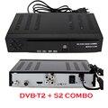 Alta calidad receptor Digital de Satélite DVB T2 + S2 MPEG4 DVB-T2 TV Receptor Sintonizador de TV Por Cobrar T2 Tuner Soporte bisskey subtítulo
