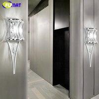Фумат кристалл настенный светильник бра Современный Chrome блеск прикроватной тумбочке Настенные светильники LED творческий для коридора Гост