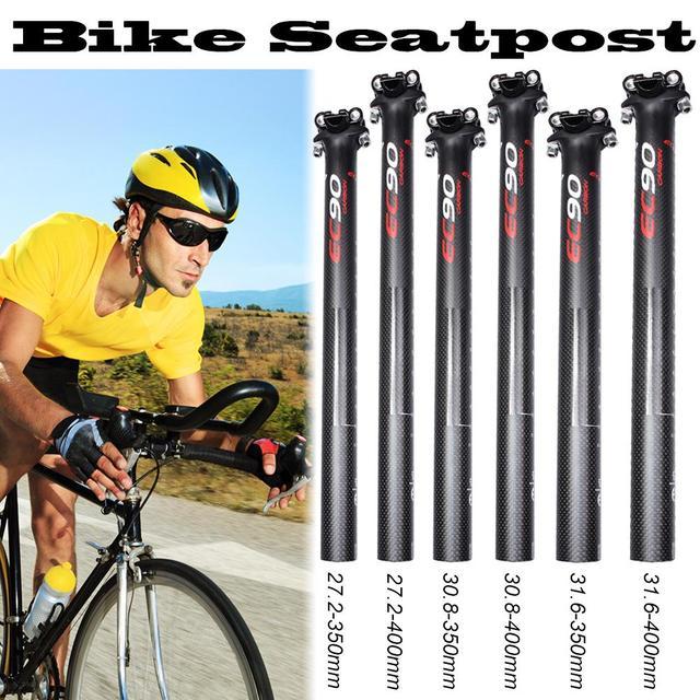 Bicicleta de estrada Cheia de Carbono Selim de Bicicleta de Montanha Assento Mensagens Peças MTB 27.2/30.8/31.6mm/1.07/ 1.21/1.24in 3 K Matt Ciclismo Peças