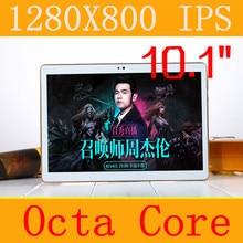 "10.1 ""Tablet PC 3g 4g tablet Octa Core 1280*800 ips 5.0mp 4 gb/64 gb teclado de android 5.1 gps bluetooth Doble tarjeta sim de Teléfono llamada"