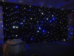 3m By 6m Led Star Sky Wedding Curtain Fireproof Velvet Wedding