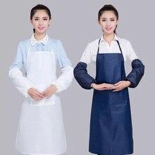 Взрослый Фартук в Корейском стиле, кухонный водонепроницаемый фартук, водонепроницаемый фартук для дома, кухни, ресторана, нагрудник, карман, платье для приготовления пищи