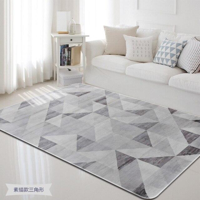 Simple Sketch Shape Carpets Living Room Bedroom Bay Window Blanket