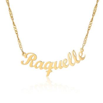 цена на Custom Vintage Cross Name Necklace Choker Women Bijouterie Bridesmaid Gift Personalized Handmade Nameplated Necklace Womeen