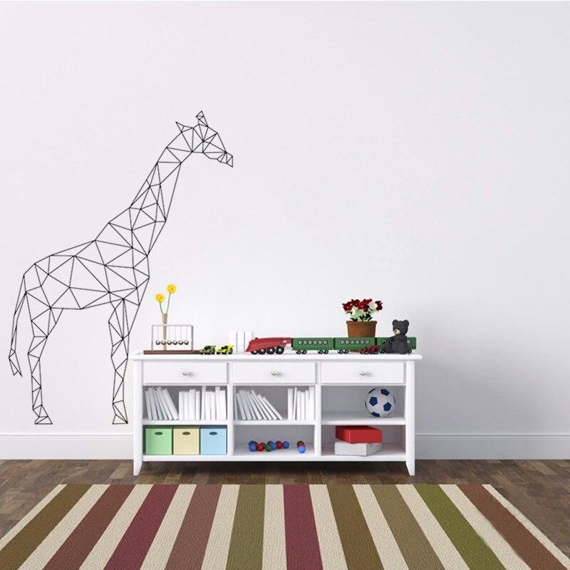 Geometric Giraffe Wall Decal Vinyl Sticker Geometry Animal Wallpaper 3D  Visual Effects Wall Art Mural Fashion Home Decor A 151 In Hair Clips U0026 Pins  From ...