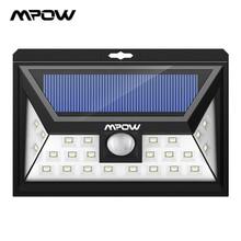 Mpow CD011 24 LED Solar Licht Lampe IP65 Wasserdichte Outdoor Weitwinkel Motion Sensor Lampe Mit 3 Modi Für Terrasse garten Pathway