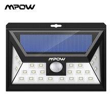 Mpow CD011 24 Led ソーラーライトランプ IP65 防水屋外広角モーションセンサーランプと 3 モードのためのパティオガーデン経路