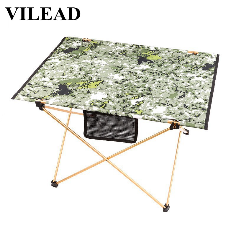 Vilead 4 Color Camo Ultralight Folding Camping Table Portable Waterproof Picnic Beach Outdoor Self Drive Travel Barbecue Army