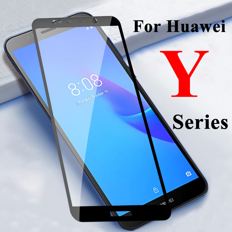For huawei y5 lite 2018 screen protector y7 pro 2019 tempered glass y 5 protective huawey 7 full cover y5lite light 5y 7y armor(China)
