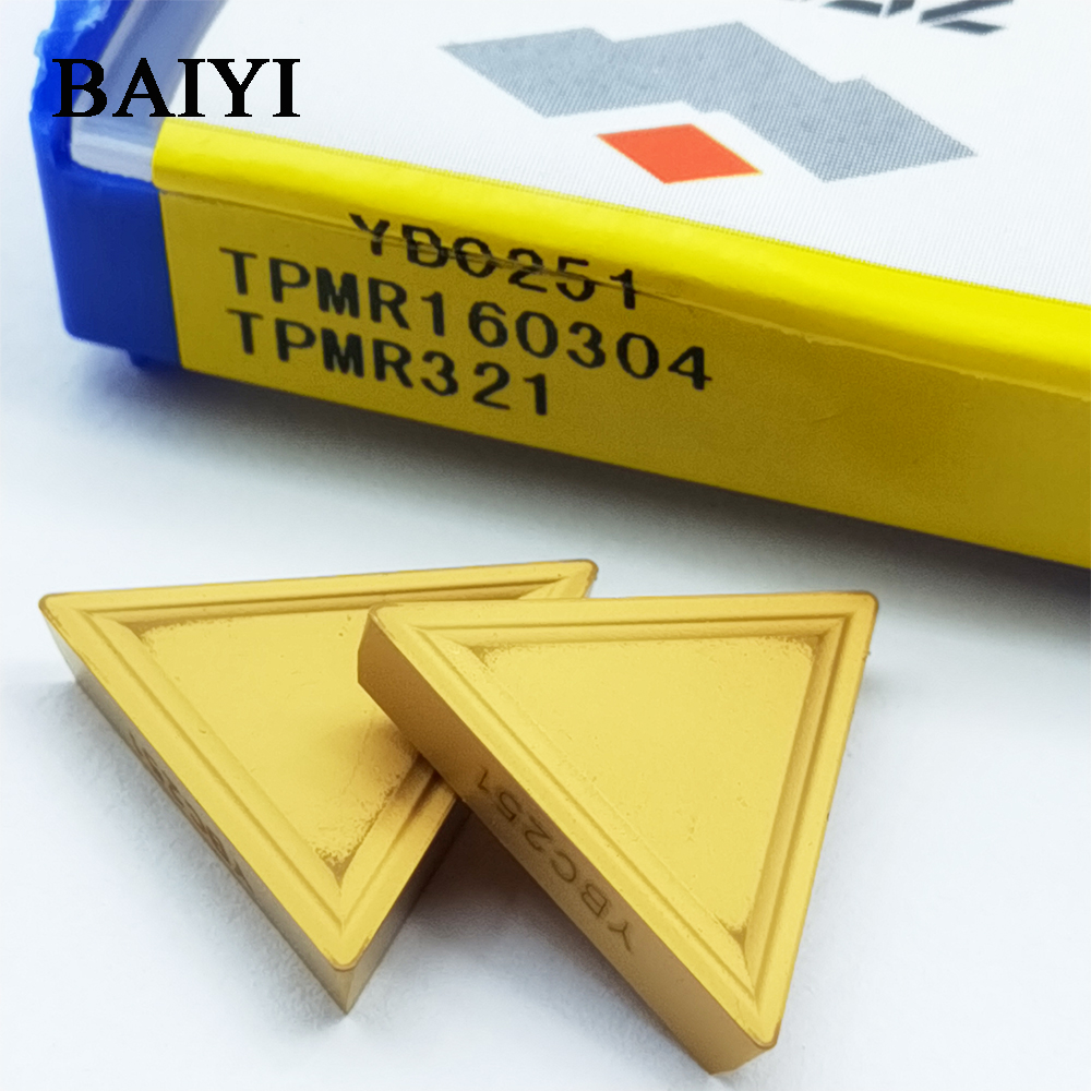 10 Pcs ZCC.CT Inserts TPMR 160304 YBC251 ZCCCT Cnc Carbide Inserts Milling Cutter TPMR160304 TPMR321 For Steel